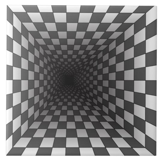 Optical Illusion Ceramic Tile Zazzle Com