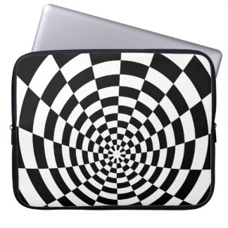 Optical Illusion checkered spatial pattern Computer Sleeve