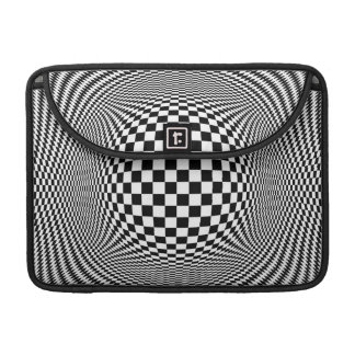 Optical Illusion Checkers 13in Macbook Pro Sleeve