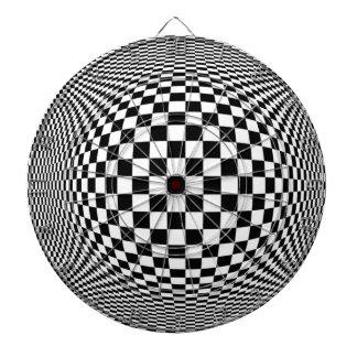 Optical Illusion Checkers Dart Board