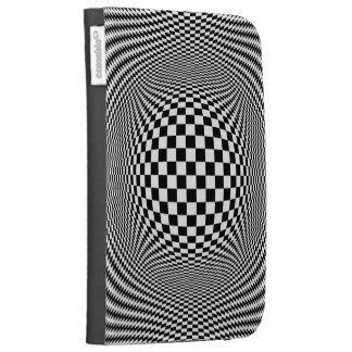 Optical Illusion Checkers Kindle 3 Case