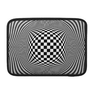 Optical Illusion Checkers Macbook Air Sleeve