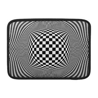 Optical Illusion Checkers Macbook Air Sleeve