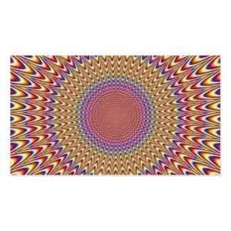 Optical Illusion Circle Expand Spiral Rainbow Double-Sided Standard Business Cards (Pack Of 100)