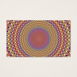 Optical Illusion Circle Expand Spiral Rainbow Business Card