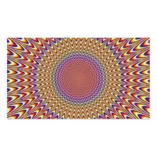 Optical Illusion Circle Expand Spiral Rainbow Business Card Templates