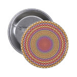 Optical Illusion Circle Hypnotic Rainbow Colorful 2 Inch Round Button