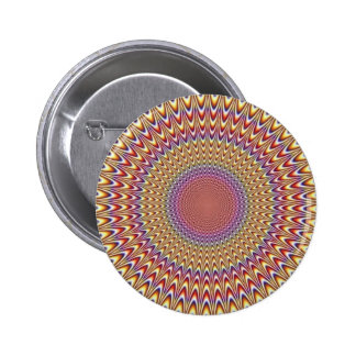 Optical Illusion Circle Hypnotic Rainbow Colorful Button