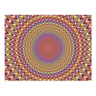 Optical Illusion Circle Hypnotic Rainbow Colorful Post Cards