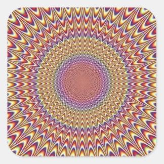 Optical Illusion Circle Hypnotic Rainbow Colorful Square Sticker