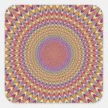 Optical Illusion Circle Hypnotic Rainbow Colorful Sticker