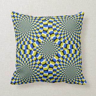 Optical Illusion Circle Pattern Throw Pillow