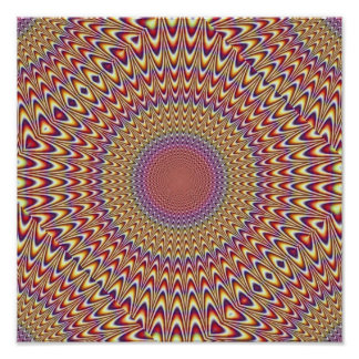 Optical Illusion Circle Spiral Expand Hypnotic Poster