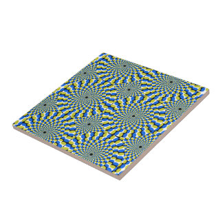 Optical Illusion Circles Novelty Ceramic Tile