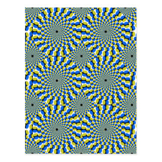 Optical Illusion Circles Novelty Postcard