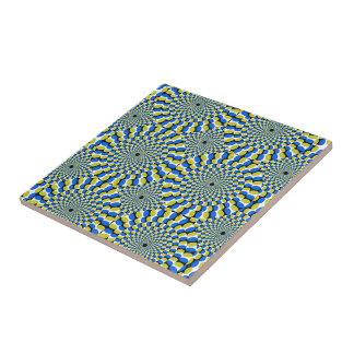 Optical Illusion Circles Novelty Ceramic Tile