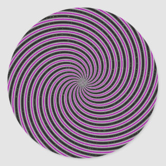 Optical Illusion Classic Round Sticker