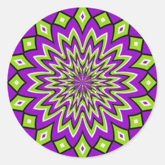 Optical Illusion Classic Round Sticker
