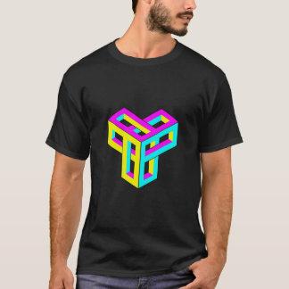 Optical Illusion CMYK Blocks T-Shirt