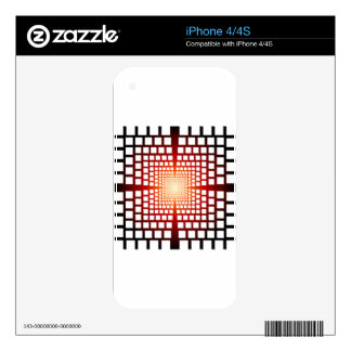 Optical illusion decal for iPhone 4