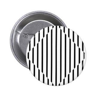 Optical Illusion Diamond Lines Black White Square Pinback Button