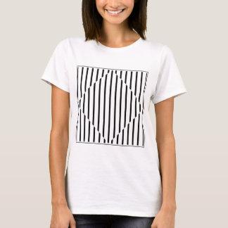 Optical Illusion Diamond Lines Black White Square T-Shirt