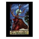 Optical Illusion Elk Postcard