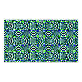 Optical Illusion Expansion Turning Wheels Chaotic Business Card