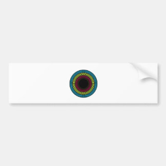 Optical illusion for hypnotherapy bumper sticker