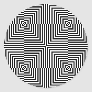 Optical illusion for hypnotherapy classic round sticker