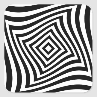 Optical illusion for hypnotherapy or psychic square sticker