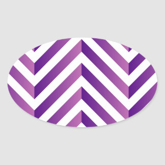 Optical illusion for hypnotherapy oval sticker