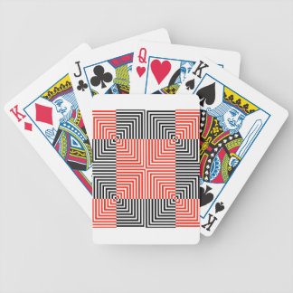 Optical illusion for hypnotherapy bicycle poker cards