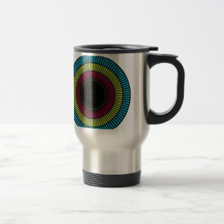 Optical illusion for hypnotherapy travel mug