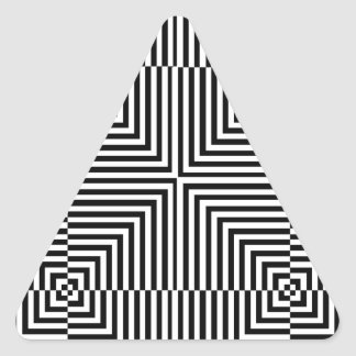 Optical illusion for hypnotherapy triangle sticker