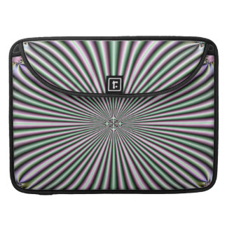 optical illusion funky retro colorful pattern MacBook pro sleeve
