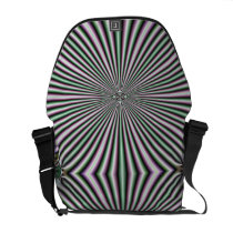 optical illusion funky retro colorful pattern messenger bag