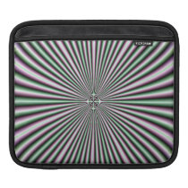 optical illusion funky retro colorful pattern sleeve for iPads