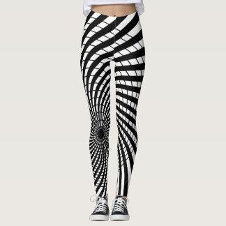 OPTICAL ILLUSION Geometric Art Hypnotic Designs Leggings