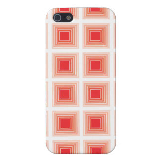 Optical Illusion Geometric Pattern Red Squares iPhone 5/5S Cases