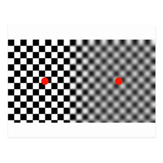 optical illusion - get moving! postcard
