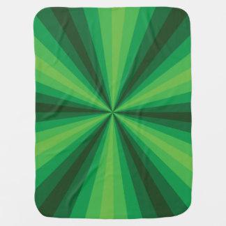Optical Illusion Green Baby Blanket