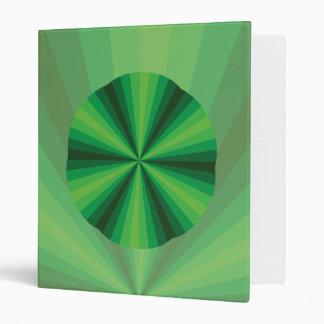 Optical Illusion Green Binder