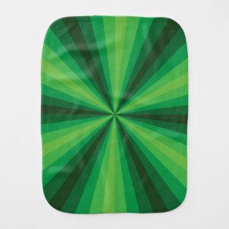 Optical Illusion Green Burp Cloth