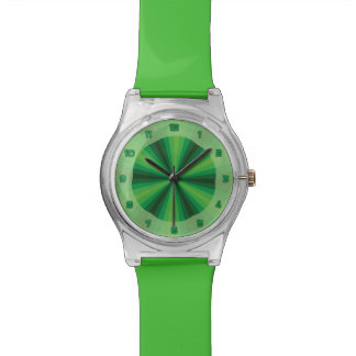 Optical Illusion Green May28th Watch