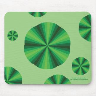 Optical Illusion Green Mousepad