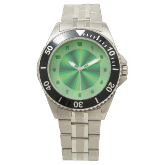 Optical Illusion Green Watch