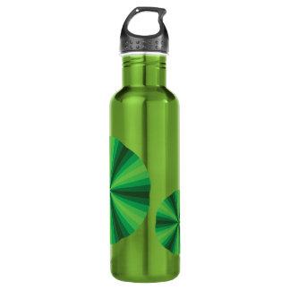 Optical Illusion Green Water Bottle