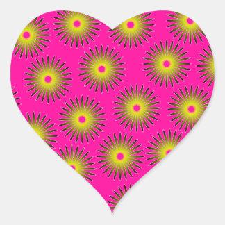 Optical Illusion Heart Sticker