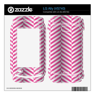 optical Illusion Herringbone -white pink- Decal For The LG Ally